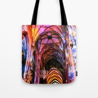 vienna Tote Bags featuring Vienna Technicolor by Stokes Whitaker