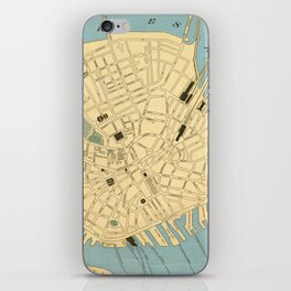 Vintage Map of Boston MA (1890) iPhone Skin