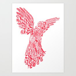 Gallito de las rocas peruvian bird red version by #Bizzartino Art Print