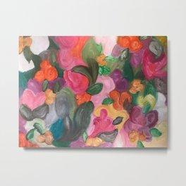 Flower World Metal Print