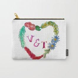 Custom Heart Wreath V & T Carry-All Pouch
