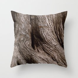 Tree Trunk Root Texture Throw Pillow