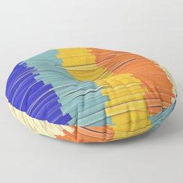 Shredded Stripes Floor Pillow