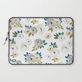 Sweet Blooms - Blue & Cream Laptop Sleeve