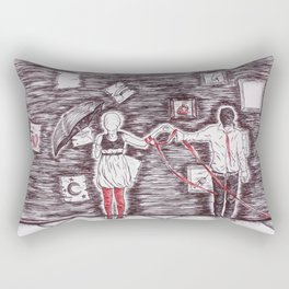Tied to Disorder Rectangular Pillow