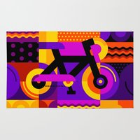 bicycle Area & Throw Rugs featuring Bicycle by koivo