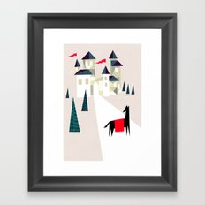 The horse and his castle Framed Art Print