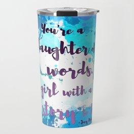 DAUGHTER OF WORDS | NEVERNIGHT BY JAY KRISTOFF Travel Mug