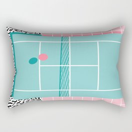 Baller - tennis sports retro pastel palm springs vacation athlete full court memphis style throwback Rectangular Pillow