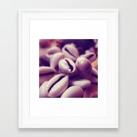 shells Framed Art Prints featuring Shells by Rafael&Arty
