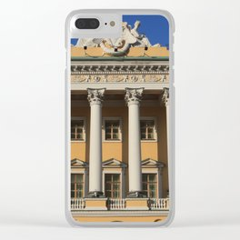 Saint-Petersburg Architecture. Building Facade with pillars. Clear iPhone Case