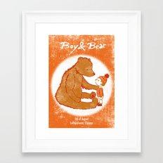 Boy & Bear Gigposter Framed Art Print