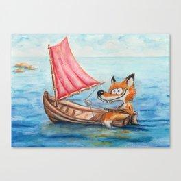 Sailing Fox Canvas Print