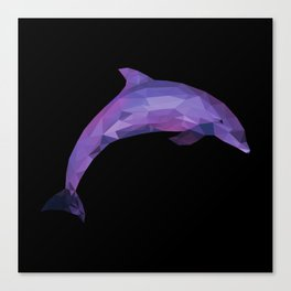 Low Poly/Geometric Dolphin Canvas Print
