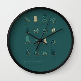 A Study of Turtles Wall Clock
