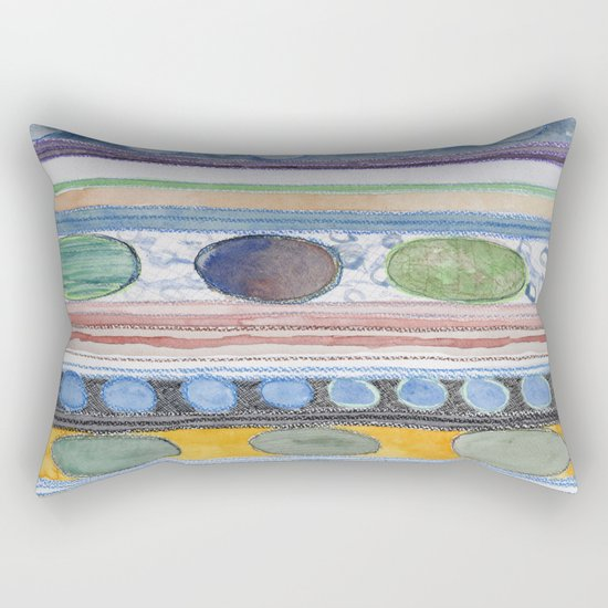 Serene Stripes Rectangular Pillow