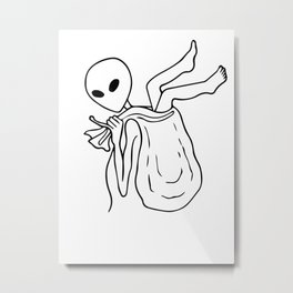 abduction by aliens Metal Print