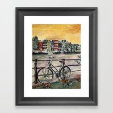 Going Dutch (blue) Framed Art Print
