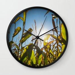 Corn Field 16 Wall Clock
