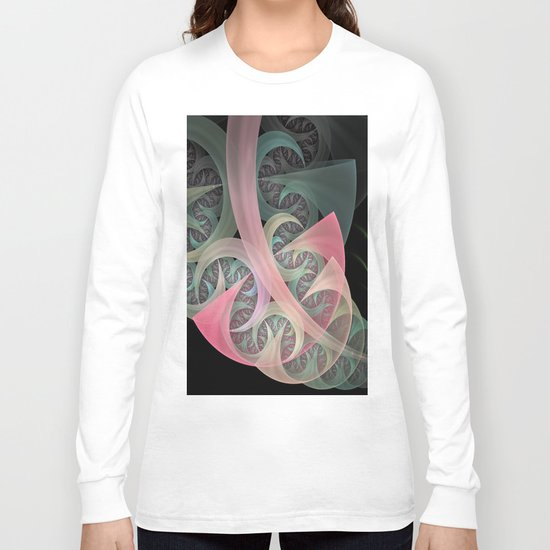 Dream Beam, fractal abstract in dreamy colors Long Sleeve T-shirt
