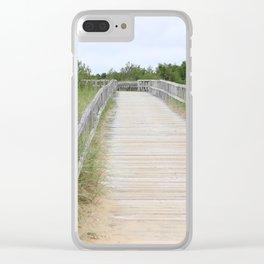 Boardwalk Sand Clear iPhone Case