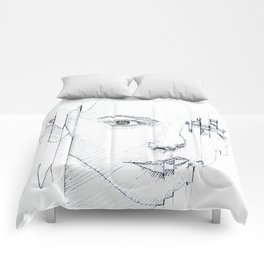 GLITCHING OUT Comforters