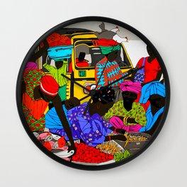african market 1 Wall Clock