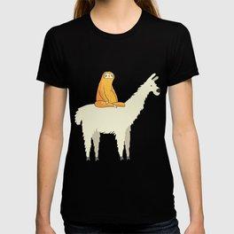 Cute Llama and Sloth Friends Adorable Animals T-shirt