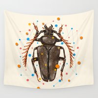insect Wall Tapestries featuring INSECT VIII by dogooder