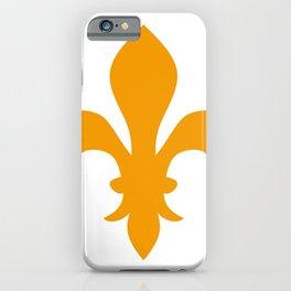 Fleur de Lis (Orange & White) iPhone Case