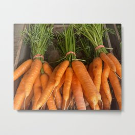 Orange carrot bunch Metal Print