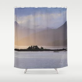 Juneau Alaska Inside Passage Pacific Coast Shower Curtain