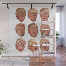 Faces Of Donald Trump Wall Mural