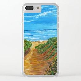Ocean Beach Painting, Impressionism Wall Art, Beach House Home Decor Clear iPhone Case