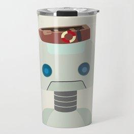 Retro Robot Robo Fashionista Travel Mug