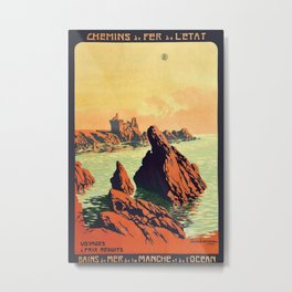 Etat Manche Vintage Travel Poster Metal Print