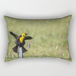 Not Only Sings, But Dances Rectangular Pillow