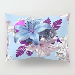 BLUE LILY WHITE ROSES 2020 Pillow Sham