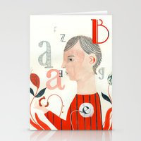 letters Stationery Cards featuring LETTERS by Sara Stefanini