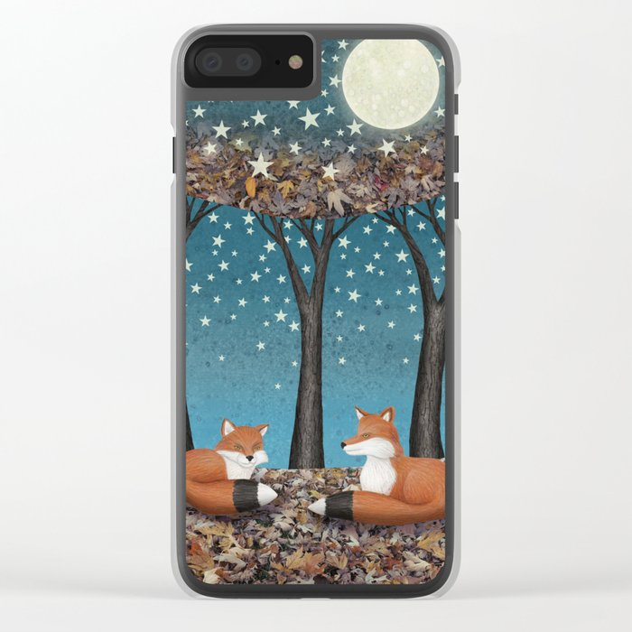 starlit foxes Clear iPhone Case