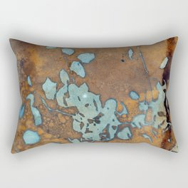 Copper Raindrops Rectangular Pillow