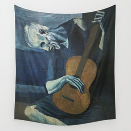 The Old Guitarist Wall Tapestry