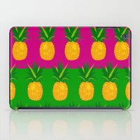 pineapples iPad Cases featuring Pineapples by The Wallpaper Files
