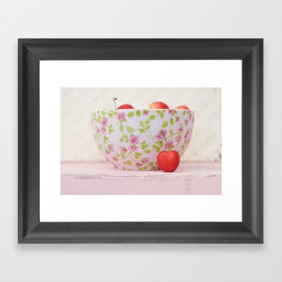 Life's a bowl of cherries Framed Art Print