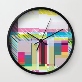 Even More Abstract Squares Wall Clock
