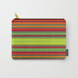 Vibrant Christmas stripes Carry-All Pouch