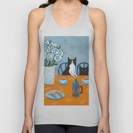 Cats and a French Press Unisex Tank Top