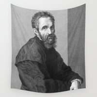 madonna Wall Tapestries featuring Michelangelo by Palazzo Art Gallery