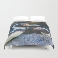 feet Duvet Covers featuring Happy Feet by Alex Tonetti Photography