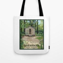 Pinewoods Cabin Tote Bag